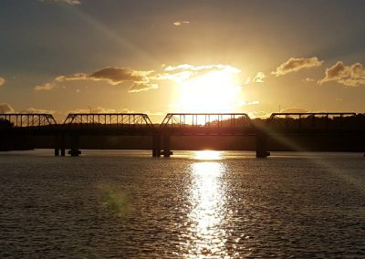 Sunset over the Nowra Bridge on the Shoalhaven River
