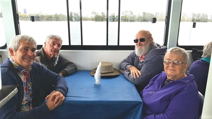 Passengers enjoying a chat during a Shoalhaven River Cruise