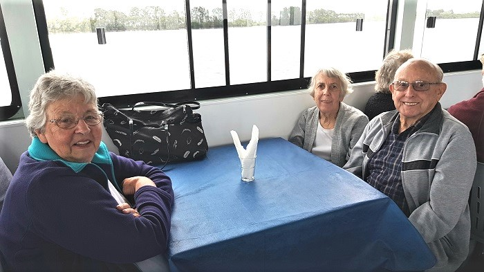 Even on an overcast day our passengers enjoy a relaxing cruise onboard with Shoalhaven River Cruise