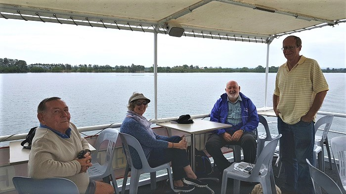 Enjoying the view from the top deck of the Shoalhaven Explorer during a Shoalhaven River Cruise