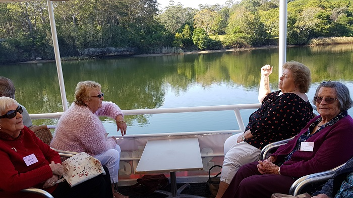 Smooth waters and sunshine helped these passengers have an enjoyable Shoalhaven River Cruise
