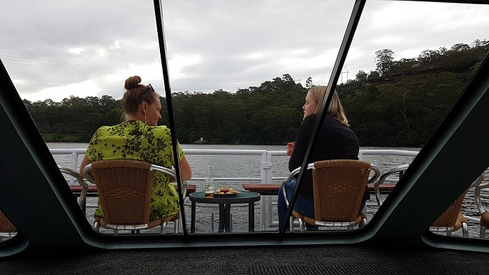 These passengers agree that the Bow of the Shoalhaven Explorer is the best place to enjoy uninterrupted views during a Shoalhaven River Cruise