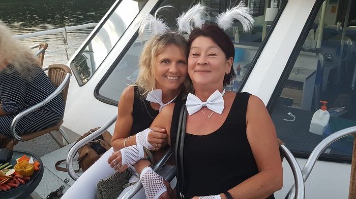 Sue and Kerri were treated to an awesome farewell onboard with Shoalhaven River Cruise
