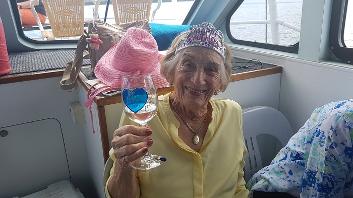 Happy 90th Birthday to Mary from your new friends at Shoalhaven River Cruise