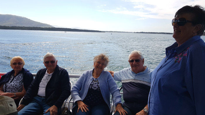 Carol and her crew enjoying a Shoalhaven River Cruise