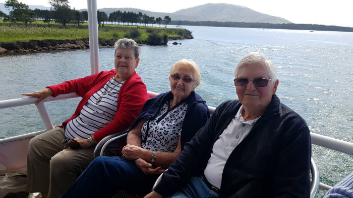Happy and relaxed is the only way to explain these passengers during a Shoalhaven River Cruise