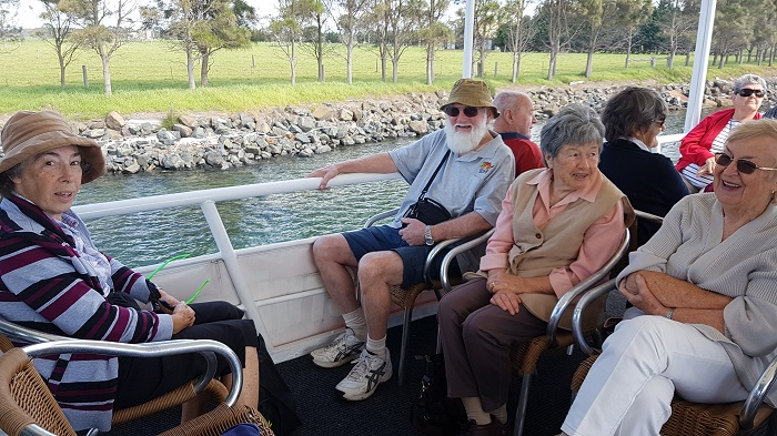 A great view is available from the top deck of the Shoalhaven Explorer during a Shoalhaven River Cruise to Greenwell Point