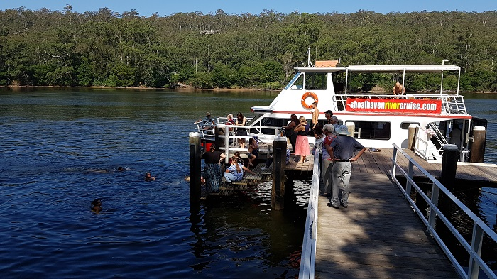 Enjoy a dip in the Shoalhaven River on a gorgeous day, during a Private Charter Shoalhaven River Cruise