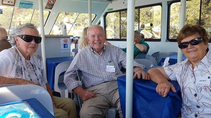 Smiles on the faces of our passengers is all that we can ask for during a Shoalhaven River Cruise