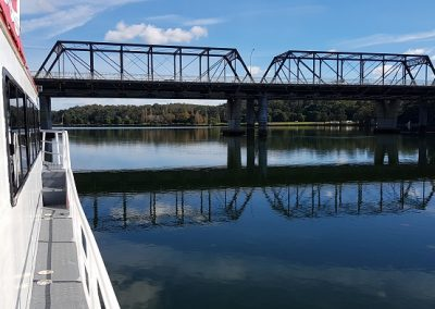 A great view of the Nowra Bridge from onboard the Shoalhaven Explorer