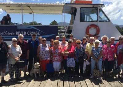 The Red Cross staff enjoying a Fish and Chip Cruise onboard the Shoalhaven Explorer